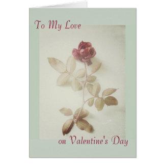 Vintage Rose Art Photo Valentine's Day Card