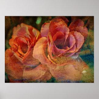 Vintage Rose Art Poster