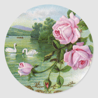 Vintage Rose Birthday Stickers
