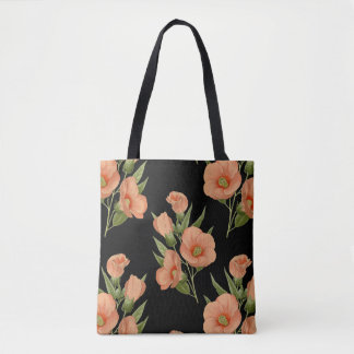 Vintage Rose Botanical Tote Bag