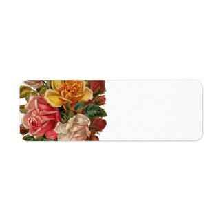 Vintage Rose Bouquet Label