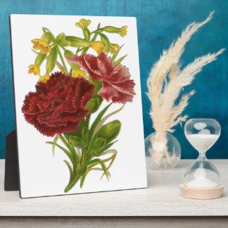 Vintage Rose Bouquet Plaque