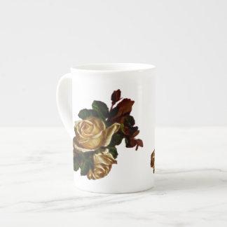 Vintage rose bouquet tea cup