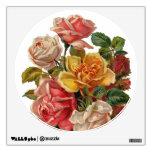 Vintage Rose Bouquet Wall Skins