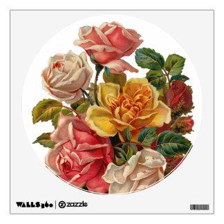 Vintage Rose Bouquet Wall Sticker