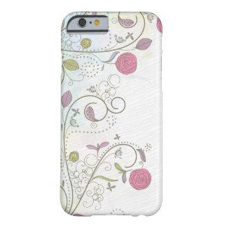 Vintage rose bud floral swirls iPhone 6 case