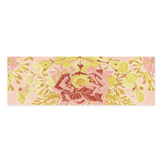 Vintage Rose & Butterflies - Bookmark Mini Business Card