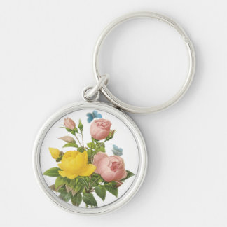 Vintage Rose Butterfly Keychain