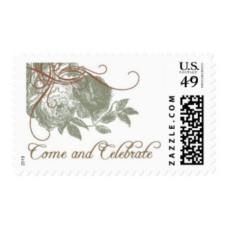 Vintage Rose C by Ceci New York Postage Stamp