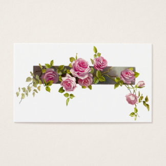 Vintage Rose Cascade Business Card