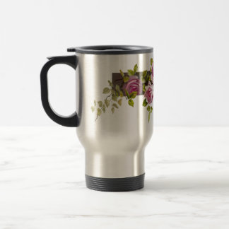 Vintage Rose Cascade Travel Mug