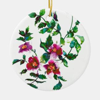 Vintage Rose Ceramic Ornament
