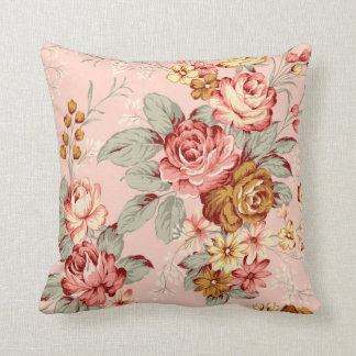 Vintage Rose Chic Throw Pillow