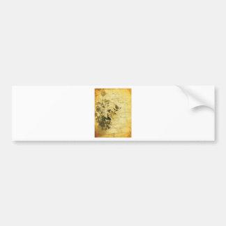 Vintage Rose Cobblestone Bumper Sticker
