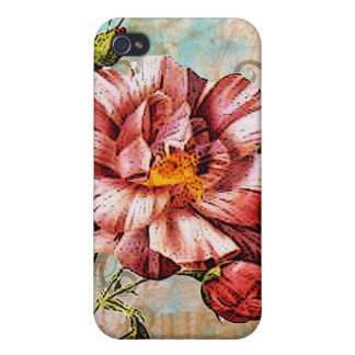 Vintage Rose Collage Art iPhone Case iPhone 4/4S Cover