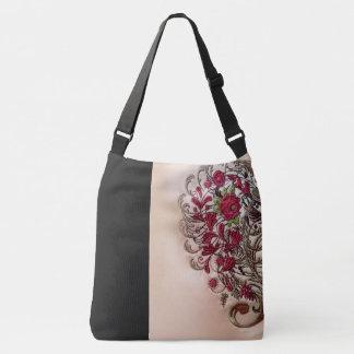 Vintage Rose Cross Body Bag (Large)