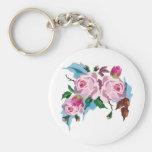 Vintage Rose cute pink rose Key Chains