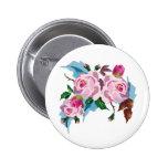 Vintage Rose cute pink rose Pinback Button