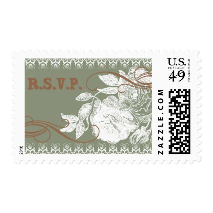 Vintage Rose D by Ceci New York Postage