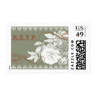 Vintage Rose D by Ceci New York Postage Stamps