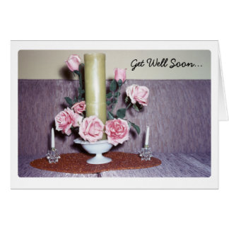 Vintage Rose Floral Arrangement Greeting Card