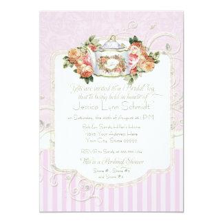 Vintage Rose Floral Bouquet Personal Bridal Shower Card