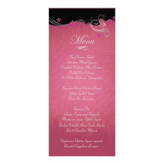 Vintage Rose Floral Wedding Rack Card