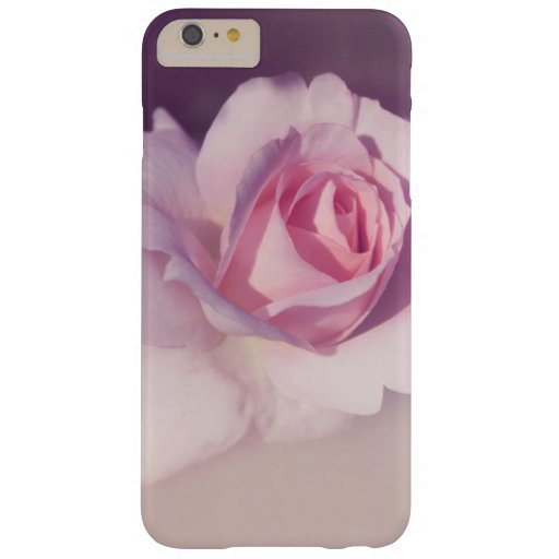 Vintage Rose Flower Pink Purple Design Barely There iPhone 6 Plus Case