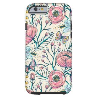Vintage Rose Flowers Pattern Apple iPhone 6 Case