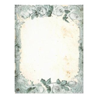 Vintage Rose Frame Letterhead