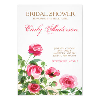 Vintage Rose Garden Bridal Shower Invitation