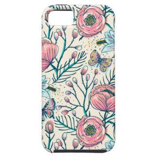 Vintage Rose Garden Flower Pattern iPhone 5 Case