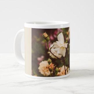 Vintage rose garden giant coffee mug