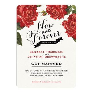 Vintage Rose Garden Wedding Invitation