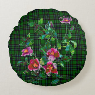Vintage Rose - geen plaid Round Pillow