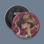 Vintage Rose Girl Bottle Opener
