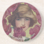 Vintage Rose Girl Coaster