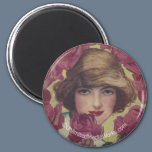 Vintage Rose Girl Magnet