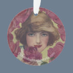 Vintage Rose Girl Ornament