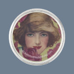 Vintage Rose Girl Pin