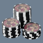 Vintage Rose Girl Poker Chip Set