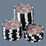 Vintage Rose Girl Poker Chips