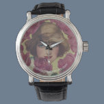 Vintage Rose Girl Wrist Watch