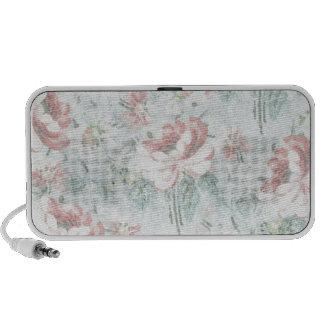 Vintage rose girly flower travel speakers