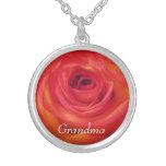 Vintage Rose Grandma Personalized Pendant