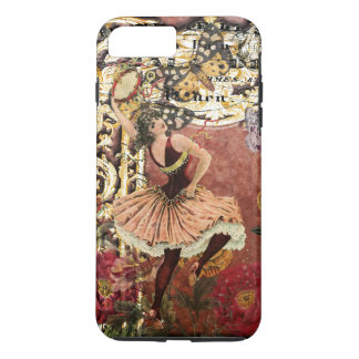Vintage Rose Gypsy Dancer French Collage iPhone 7 Plus Case
