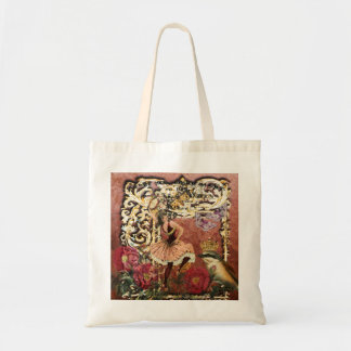 Vintage Rose Gypsy Dancer French Collage Tote Bag