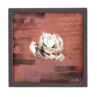 Vintage Rose Hands Nails Grunge Keepsake Box
