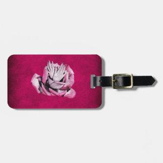 Vintage Rose Hands Nails Grunge Luggage Tag