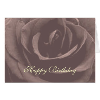 Vintage Rose Happy Birthday greeting card